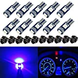 74 bulb led - BlyilyB 10-Pack Blue T5 2721 37 74 Wedge Led Bulb PC74 Twist Sockets Replacement Dash Dashboard Lights Instrument Panel Cluster LEDS Lamps