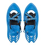 Winterial Pika Kids Snowshoes 18 inch Lightweight Aluminum Flat Terrain Snow Shoes, Blue