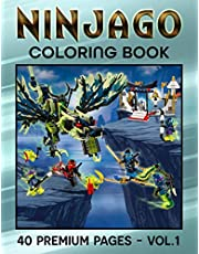 Ninjago Coloring Book 1: An Interesting Coloring Book With Many Ninjago Illustrations To Relax And Relieve Stress As Well As Boost Creativity