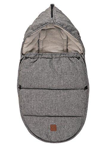 Kaiser 65385225Hoody Fußsack für Kinderwagen, Baumwolle/Fleece, grau