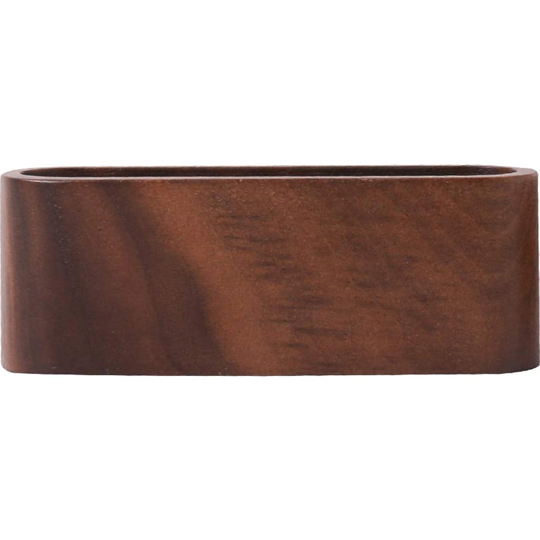 ブラッククルミ木製カードベース名刺ホルダー名刺ホルダービジネス創造名刺ベース、2つのオプション SMMRB (色 : Black walnut)
