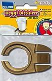 Parodi & Parodi 781 - Sujetavasos práctico y cómodo con clip para vasos de plástico, evita el desperdicio y el desorden en la mesa, 100% fabricado en Italia
