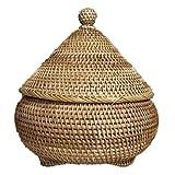 ChengBeautiful Caja De Té Caja de Almacenamiento de ratán Snack Canasta de Almacenamiento Canasta Caddy Caja de té (Color : Marrón, Size : One Size)