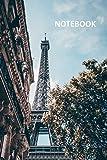 Notebook: La tour eiffel en francais convenient Composition Book Daily Journal Notepad Diary Student for notes on Paris vacation packages payment plans