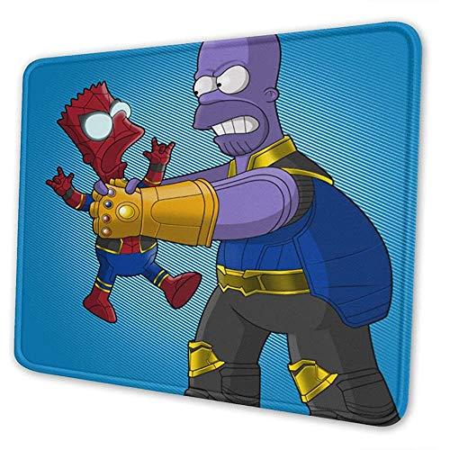 The Simpsons Spider Thanos Gaming Alfombrilla de ratón Alfombrilla Mousepad Teclado de computadora Bordes cosidos