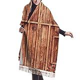 Bufanda de invierno clásica de otoño para mujer,Acción de Gracias Navidad puerta de entrada rústica y de madera en fachada de piedra, bufanda cálida, suave y gruesa, manta grande, chal, bufandas