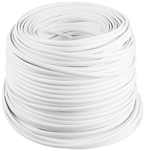 HDK - Cable plano de 4 hilos (100 m), color blanco