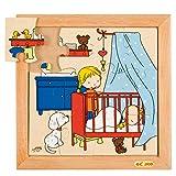 Educo Puzle para bebé – Dormir | Historia de Materiales educativos | Puzzle – Juego y Resolver – Puzzle de Madera | A Partir de 72 Meses | hasta 132 Meses