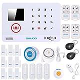 OWSOO, Sistema di Allarme Wireless, Kit Allarme Domestico, 433MHz Wireless Auto-dial 3G SMS Allarme Sirena Rilevatore di Movimento Telecomando del Telefono Sicurezza Domestica