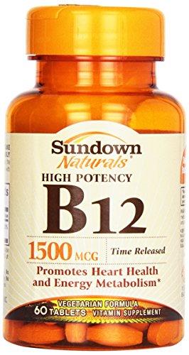 Sundown B-12 1500 Mcg Time Release Tablets, 60 ct