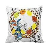 Housses de Coussin de Pâques Higlles - Taie d'oreiller - Forme carrée - Mélange de Lin - Décoration d'intérieur, lit, canapé, Voiture - 45 cm x 45 cm