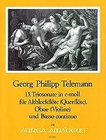 TELEMANN - Trio Sonata en Mi menor (TWV:42/e 6) para Flauta de Pico Alto, Oboe y BC (Partitura/Partes)