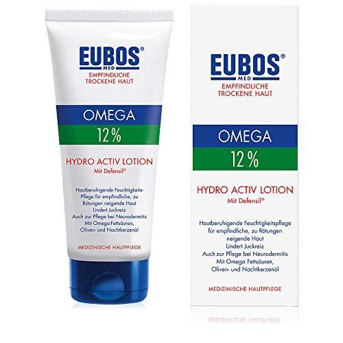 Eubos | Omega Hydro Activ Lotion | 200ml | Körperlotion für empfindliche und trockene Haut | Hautvertäglichkeit dermatologisch bestätigt | Omega-Fettsäuren | Hochwertige natürliche Öle