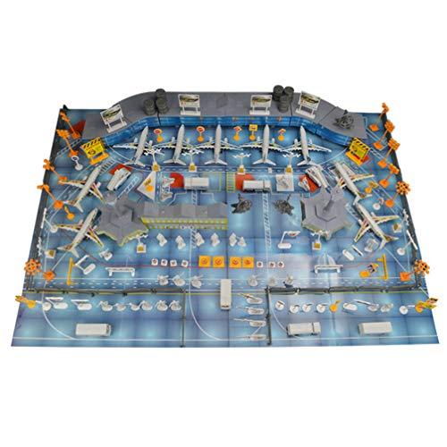Tomaibaby Luchthaven Vliegtuig Speelgoed Vliegtuig Speelkleed Vliegtuig Model Speelset Gesimuleerde Scène Voor Kinderen Peuters Cadeau Speelgoed