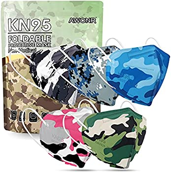 50-Pack AWONR Disposable Safety KN95 5-Ply Protection Face Mask