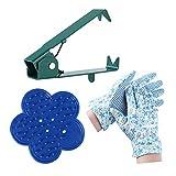 ZELARMAN Rose Leaf Thorn Stripper Set of 3 Pcs with Metal Rose Stem Thorn Stripping Tool, Plastic Thorn Remover Tool & Garden Gloves