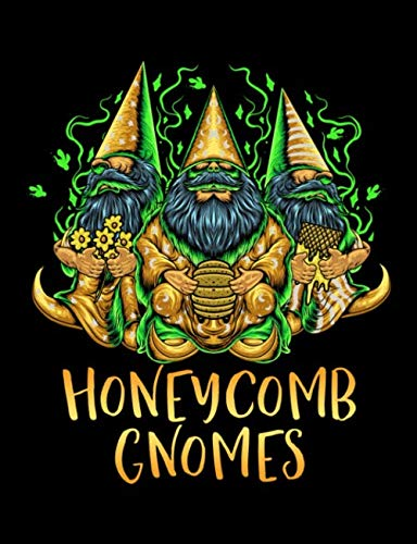 Honeycomb Gnomes: Lined College Ruled Composition Notebook