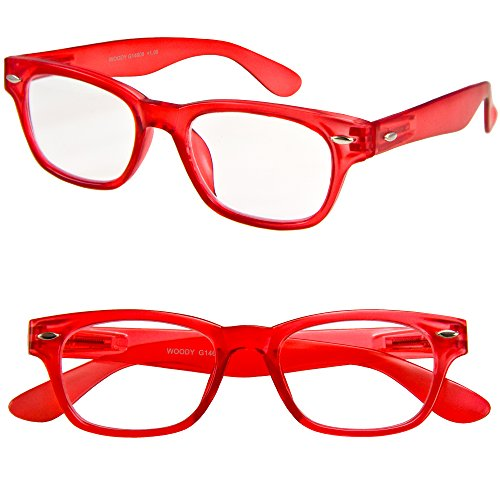 I NEED YOU Lesebrille Woody Limited / +1.50 Dioptrien/Rot, 1er Pack