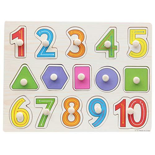 Numeros De Madera Con Forma De Puzzle Paridad Bebe Toldder Juguete De Ninos En Edad Preescolar