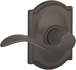 Schlage Accent Lever with Camelot Trim Hall and Closet Lock in Oil Rubbed Bronze - F10 ACC 613 CAM