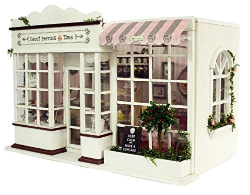 Cuteroom DIY Wooden Dolls House Handwerk Miniatur Kit-Sweet Candy Zimmer Modell mit Möbeln