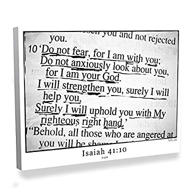 Isaiah 41:10 Bible Verse Canvas Art