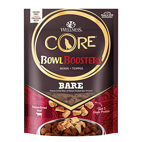 Wellness Core Natural Grain Free Bowl Boosters Pure Dog Food Mixer Or Topper, Freeze Dried Beef, 4-Ounce Bag