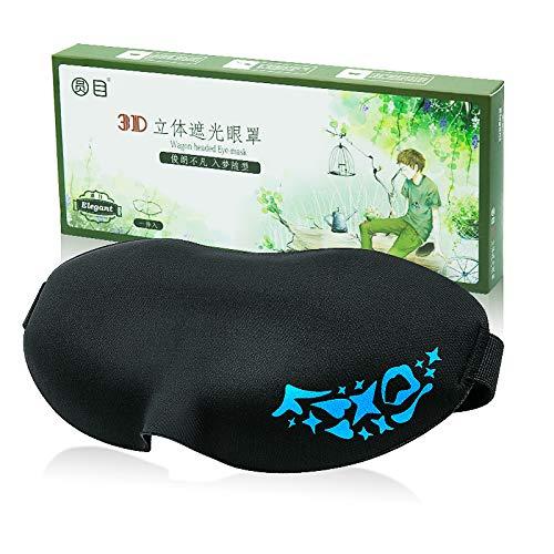 Preisvergleich Produktbild Schlafmaske Schlafmaske 3D-Augenmaske Unisex-Reisen schlafen liefert Yashi schwarze Augenmaske