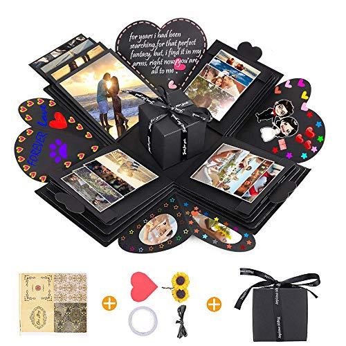 Creative Explosion Gift Box, DIY Handmade Photo Album Scrapbooking Gift Box and Surprise Box as...