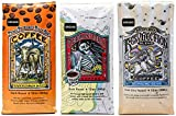 Raven's Brew Ground Coffee Variety Pack - 3 Delicious Flavors - Three Peckered Billy Goat, Deadman's Reach and Resurrection Blend - 12 oz each