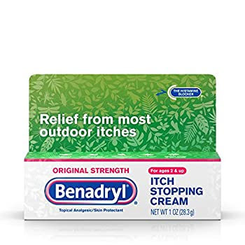 Benadryl Original Strength Anti-Itch Relief Cream for Most Outdoor Itches Topical Analgesic 1 oz