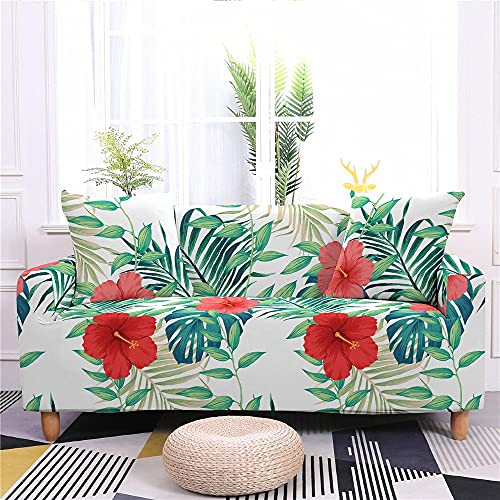 WXQY Sala de Estar Funda de sofá elástica con Estampado Floral en Forma de L Funda de sofá de Spandex Funda de sillón Funda de sofá Antideslizante A1 1 Plaza
