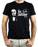 PLANETACAMISETA Camiseta Hombre - Unisex Godfather El Padrino (Negro, XL)