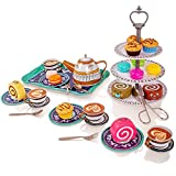 Milly & Ted 39 Stück Nachmittagstee Party Teaset für 4 - Kinder Metall Tee Set - Pretend Play...