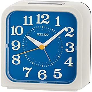 Seiko QHK048W Bell Alarm Clock with Snooze & Light-White, 14.3 x 13.7 x 8.2 cm