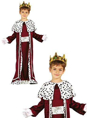 Guirca König Caspar Kostüm für Kinder Krippenspiel die heiligen DREI Könige Kirche Weihnachten Gr. 98-146, Größe:140/146