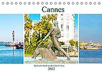 Cannes - idyllische Stadt an der Côte d'Azur (Tischkalender 2022 DIN A5 quer): Urlaubsort mit mediterranen Flair an der Côte d'Azur in Suedfrankreich. (Monatskalender, 14 Seiten )