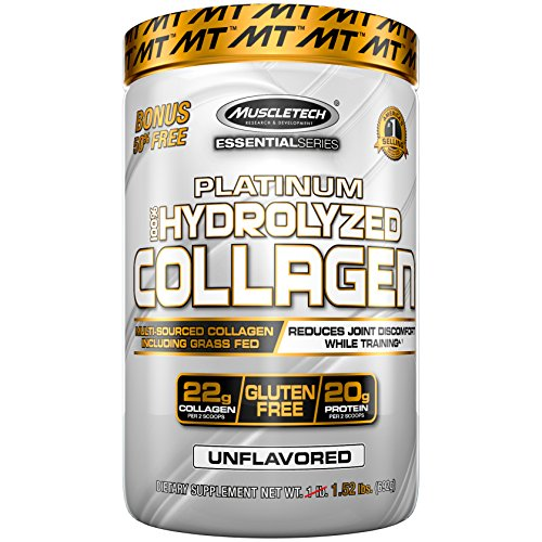 MuscleTech Platinum 100% Hydrolyzed Collagen, Unflavored - 692g