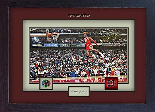 SGH SERVICES Autogramm, gerahmt, Michael Jordan Chicago Bulls Autogramm, Basketball, Memorabilia, NBA signiertes Autogramm, gerahmt, MDF-Bilderrahmen, Memorable #3