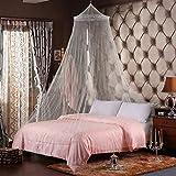 HNFY Moskitonetz Ciaoed Moskitonetz großes Quadratische Moskitonetze für Doppelbett und Einzel Bett 4 offenen Seiten rechteckiger Netzvorhang Reise mit Tragetasche(weiß)