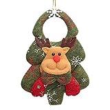 KRISWU - Adornos de Navidad para colgar decoraciones de Papá Noel y muñeco de nieve con diseño de oso para colgar en la puerta