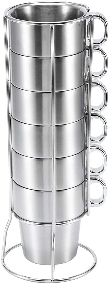 Stainless Steel Water Coffee Deluxe Cup Insulated Ranking TOP3 Non-Scald Heat wi Set