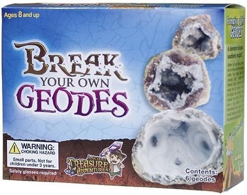 Envío 100% gratuito Break Your Own Own Own Geodes 6 Whole Geodes by Gem Center U.S.A.  mejor opcion