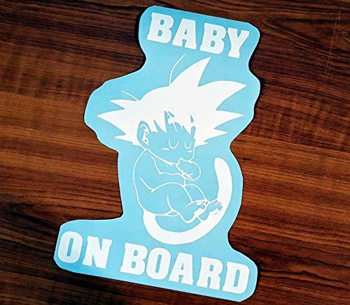 Auto Aufgeber Son Goku Dragonball Z Super GT Baby on Board Autoaufkleber Tuning Kinder Aufkleber Sticker Dragon Ball