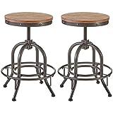 Ashley Furniture Signature Design - Pinnadel Swivel Bar Stool - Counter Height - Set of 2 - Light Brown