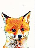 Fox Cub Wall Art Print, Fox Lover Gift, Fox Decor,Fox wall art Print, Countryside, Wildlife Decor hand signed by Oscar Jetson