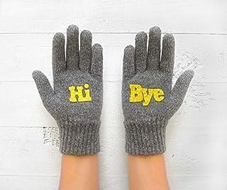 Fun Gloves, Grey Gloves, Unique Gloves, Valentine's Gift, Funny Gift For Valentine's Day