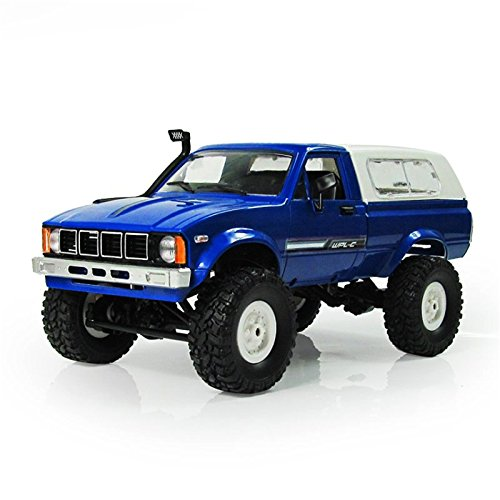 TOOGOO WPL C-24 1/16 Scale RC Car Rock Crawler 4WD Off-Road Military Truck Best Toy