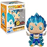 USA OFFICIAL Dragonball Z Funko Pop 713 Vegeta Powering Up Special Edition Chase Metallic 9 cm...