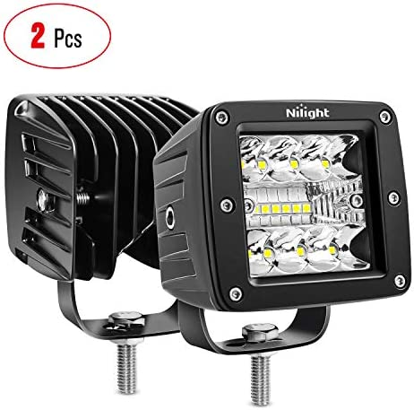 Nilight 2PCS 3Inch 42W LED Cubes Upgraded Spot Flood Combo Beam Square LED Pod Light Driving product image